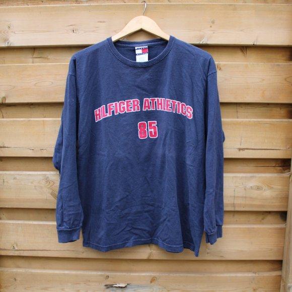 Vintage Tommy Hilfiger / Long sleeve T Shirt / 90s